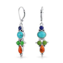 Bling Multicolor Gemstone Earrings