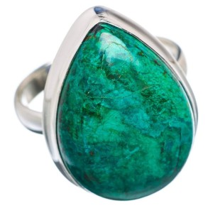Chrysocolla Sterling Silver Ring