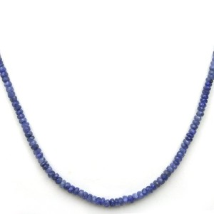 genuine sapphire bead necklace