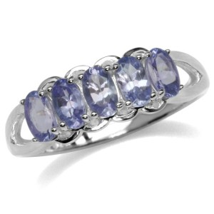 Genuine Tanzanite 925 Sterling Silver Ring