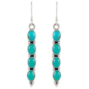 Bohemian Turquoise Sterling Silver Earrings